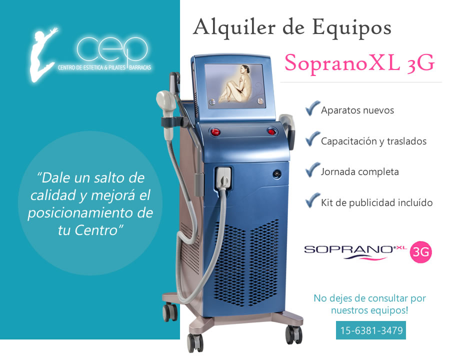 Alquiler de equipos Soprano XL 3G